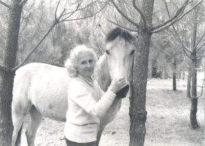 Christine de Rivoyre et Boy à Onesse dans les années 70.