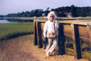 Christine de Rivoyre à Hossegor dans les années 2000.