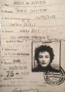 """Carte de presse de Christine de Rivoyre alors qu'elle vient de quitter """"Le Monde"""" et s'apprête à éditer son premier roman, """"L'Alouette au miroir""""."""