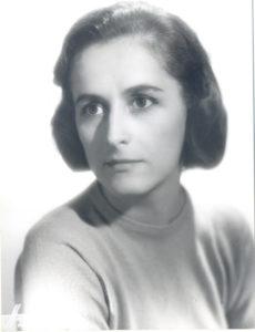 Christine de Rivoyre prise en photographie par le studio Harcourt, au début des années 50.