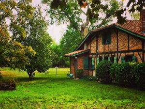 La maison de Christine de Rivoyre à Onesse-Laharie.