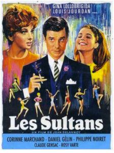 """Affiche du film """"Les Sultans"""" (1966) de Jean Delannoy."""