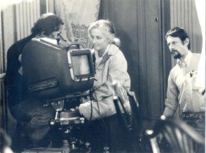 Christine de Rivoyre sur le tournage de La Mandarine d'Edouard Molinaro.