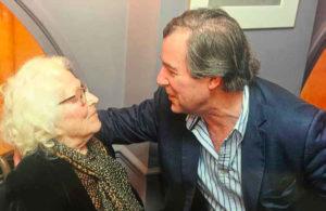 """Christine de Rivoyre et Jérôme Garcin au Grand Véfour en 2014 pour le lancement de """"Flying-Fox et autres souvenirs"""""""