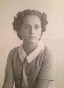 Christine de Rivoyre à l'âge de 12 ans.