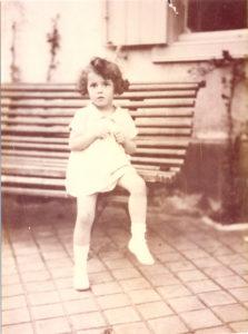 Christine de Rivoyre à l'âge de 3 ans.