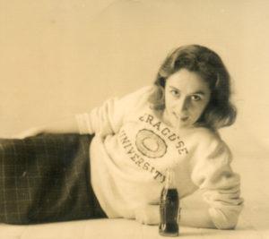 Christine de Rivoyre à l'époque des ses études à l'université de Syracuse, aux Etats-Unis.