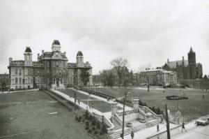 L'université de Syracuse dans l'Etat de New-York où Christine de Rivoyre a suivi des études de journalisme.