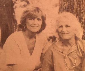Nicole Courcel et Christine de Rivoyre lors du tournage de Belle Alliance.